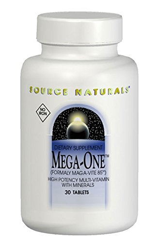 SOURCE NATURALS Mega-One Multiple No Iron Tablet, 180 Count