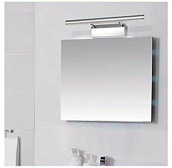 Badezimmerspiegel Mit Lampe.Badspiegel Lampe Lisafeng Wc Spiegel Lampe Led Licht Moderne Minimalistische Badezimmer Spiegel Edelstahl Schaltschrankleuchten 55 Cm