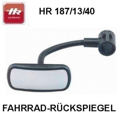HR Imotion HR 10411101 Bicycle rear view Mirror 55 x 115 x 210 mm/2,2 x 4,6 x 8,1 inch - with adjustable gooseneck Made in Germany by HR Imotion (Image #7)