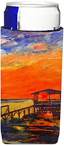 Sunset At The Dock Ultra Beverage Insulators For Slim Cans 6076muk