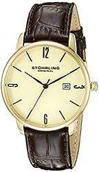Stuhrling Original Men's 997L.03 Ascot Date Brown Leather Strap Watch