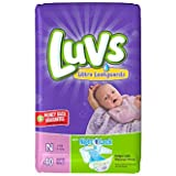 Health & Personal Care : Luvs Ultra Leakguards Diapers Size 0 40 Count (2 Packages)