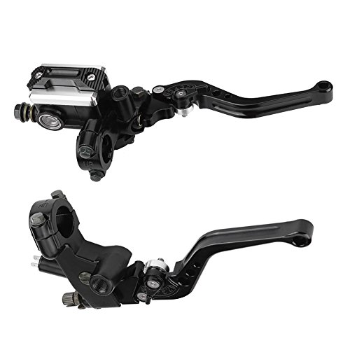 Fydun Master Cylinder Levers 1 Pair Universal Motorcycle Brake Clutch Master Cylinder Reservoir Levers: