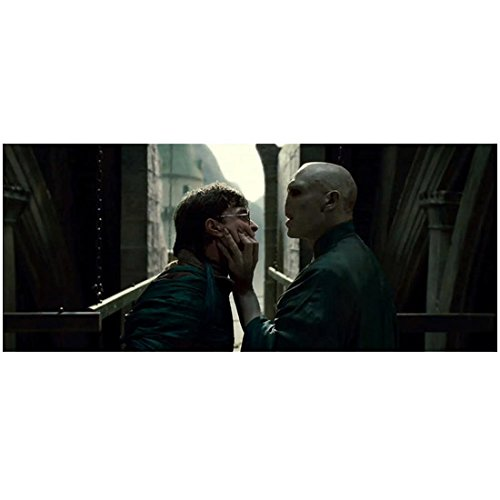 Harry Potter Lord Voldemort (Ralph Fiennes) Grabbing Harry Potter (Daniel Radcliffe) By The Face 8 x 10 Inch Photo