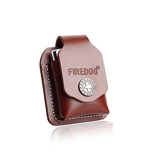 (Cigarette Lighter Case 1PC Genuine Leather Lighter Pouch Hoder with Belt Loop CL27)
