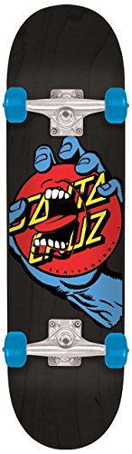 Santa Cruz Skateboards Hand Dot Micro Sk8 Skateboard, 6.75″ x 28.5″, Multicolor