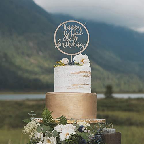 659ParkerRob Custom Birthday Cake Topper 80Th Birthday Cake Topper 80Th Birthday Decorations 80Th Cake Topper 80Th Birthday Ideas ()