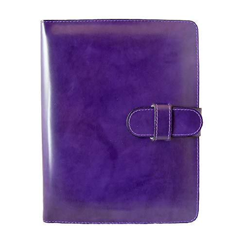 Pratesi Unisex Italian Leather iPad2 and New iPad3 Protective Cover with Shoulder Strap in Violet
