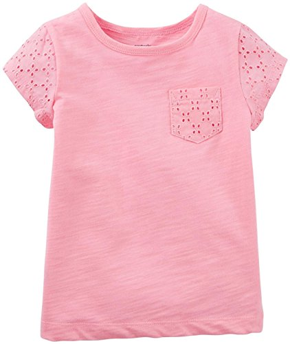 Carter's Baby Girls' Lace Pocket Tee (Baby) - Light Pink - 6 Months