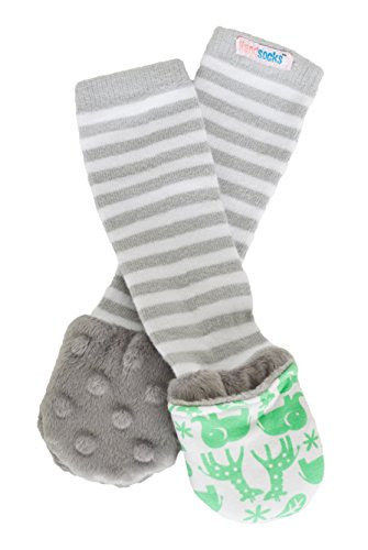 Handsocks Plush Mittens 0-3 Months. Bicep Size Should be 3.5-5.5 XS Jungle Print//Grey Stripe Newton