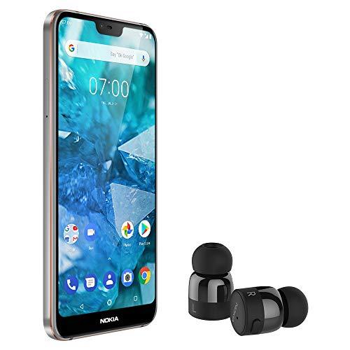 Nokia 7.1 Steel and True Wireless Headphone ()
