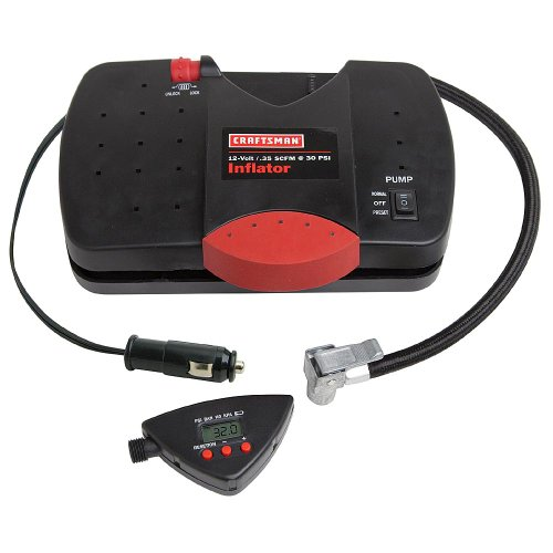 Craftsman 12-Volt Portable Inflator With Digital Tire Pressure Gauge, 28-75114