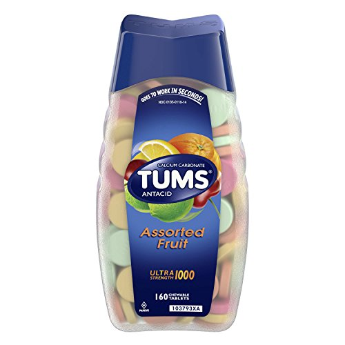 TUMS Antacid Chewable Tablets for Heartburn Relief 160ct, Ultra Strength, Assorted - 500 Tabs Chew