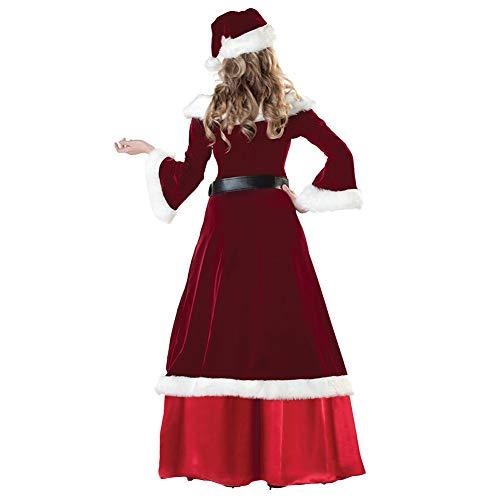 Stil costyle Cape Weihnachtsmann Kostüme Damen Kleid Cosplay Weihnachtskostüm Kostüme Rotes Hut HvHPfF