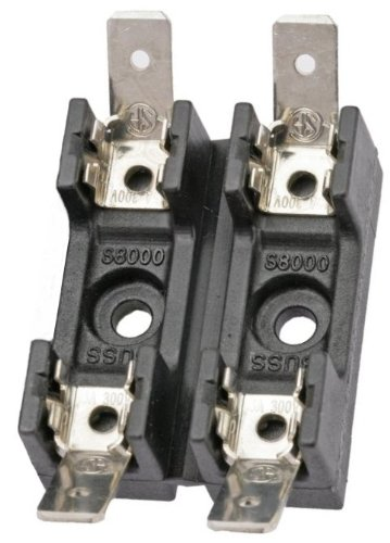 Bussmann BP/S-8202-2 Two Position Glass Tube Fuse Block for 1/4' x 1-1/4' Fuses (20 Amp Max) Cooper Industries