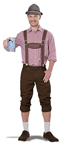 German Lederhosen Costumes (California Costumes Men's Lederhosen Kit, Brown, One Size)
