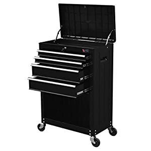 """TB3204X-BK Excel 22"""" Roller Tool Cabinet with 4 Ball Bearing Drawers, 22in, Black"""
