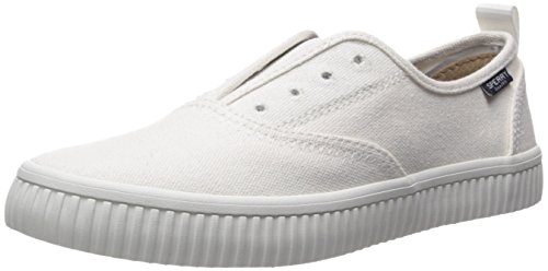 Sperry Top-Sider Women's Crest Creeper CVO Sneaker, White, 8.5 Medium US