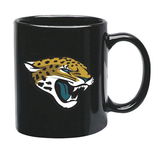 Memory Company Jacksonville Jaguars 15 oz Black Ceramic Coffee Cup