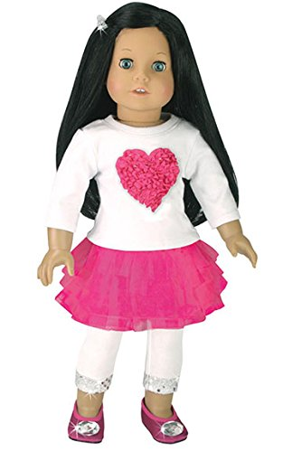 a831de82114 Jual 18 Inch Doll Clothes Heart Themed Outfit