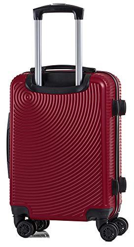 CABIN GO 5512 Valigia Trolley ABS, bagaglio a mano 55x37x20, Valigia rigida, guscio duro e antigraffio con 8 ruote… 4 spesavip