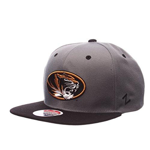 Zephyr NCAA Missouri Tigers Men's Z11 Slate Snapback Hat, Grey/Black, Adjustable