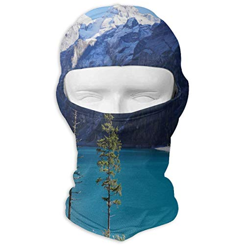 Balaclava Lake In The Swiss Snowy Mountains Full Face Masks UV Protection Ski Cap Womens Headcover for Outdoor (All In One Face Mask And Snorkel)