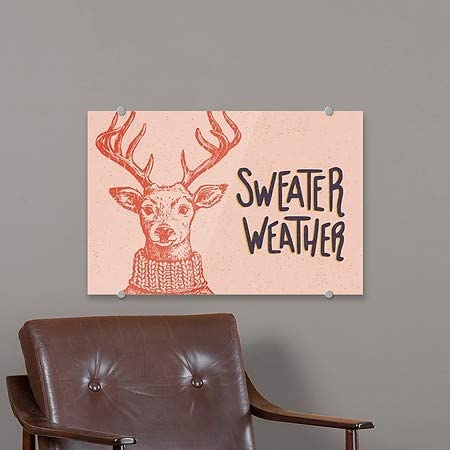 5-Pack Merry Everything Deer 16x16 CGSignLab Square Premium Brushed Aluminum Sign Holiday Decor