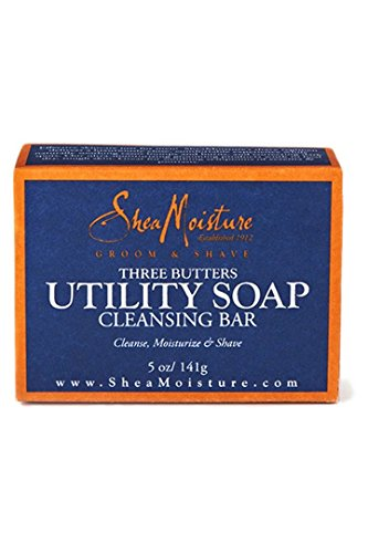 SHEA MOISTURE SOAP,MEN'S UTILITY, 5 OZ, 5 pack