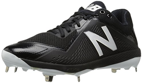 New Balance Men's L4040v4 Metal Baseball Shoe, Black, 11.5 D US