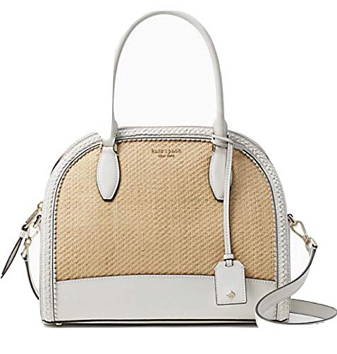 Kate Spade New York Reiley Straw Large Dome Womens Satchel (BRGHTWHITE)