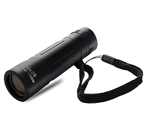 Coocolor 10x25mm Monocular for Adult Wildlife Hunting Camping and Travelling Watching with High-Definition and Night Vision