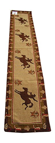 Cowboy Jacquard Table Runner 13x72 inches by - Hut Cactus