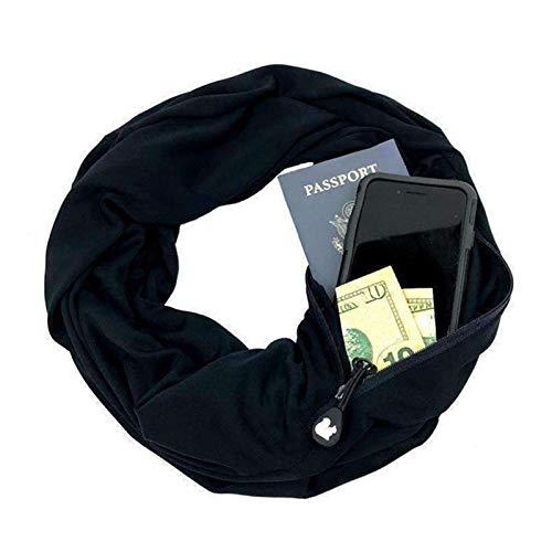 Blanc Majome Écharpe portative pour Femme avec écharpe de Poche All Écharpe Travel All Match