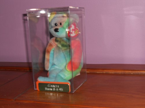 TY Beanie Baby - GARCIA the Ty-dyed Bear (4th Gen hang tag) (Babies Ty Rare Beanie)