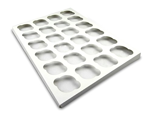 W PACKAGING WP1419CI24C 14x19 White/White Cupcake Insert with 24 Cavitites for Holding Regular Cupcakes in Cake Box (Pack of 100)