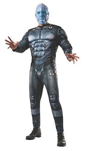 Marvel Villains Halloween Costumes (Rubie's Costume Men's Marvel Universe, The Amazing Spider-man 2 Deluxe Electro Costume, Multicolor, X-Large)