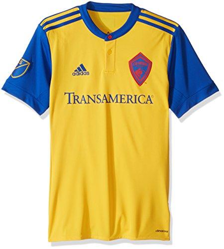 MLS Colorado Rapids Adult Men Replica Wordmark s/Jersey,Large,Yellow and (Mens Soccer Replica Jersey)
