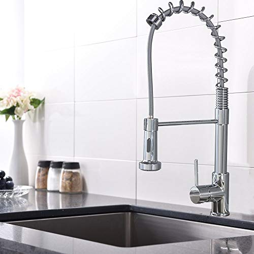 Best Prices! Micoe H-HC109 Pull Out Single Handle Kitchen Faucet with Sprayer Kitchen Sink Faucets w...