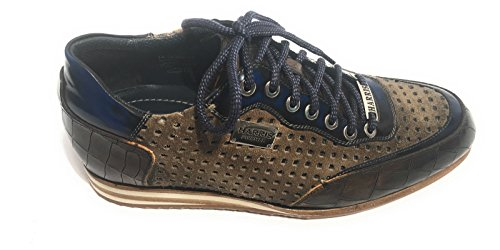 Harris Scarpe Uomo Sneaker Cocco Marrone/Ardesia Shade/Suede Tortora LASERATO U17HA63 (7UK - 41 IT)