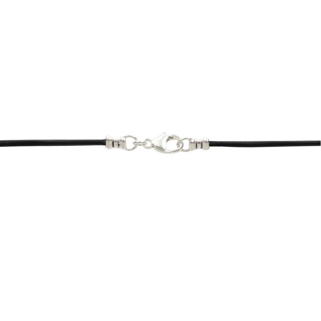 Sterling Silver 1.8mm Fine Black Leather Cord Necklace - 26 inches by DragonWeave (Image #3)