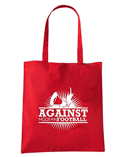 T-Shirtshock - Bolsa para la compra TUM0137 AGAINST MODERN FOOTBALL Rojo