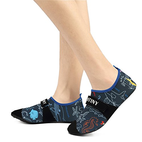 CIOR Männer Frauen und Kinder Quick-Dry Wasserschuhe Leichte Aqua Socken Für Beach Pool Surf Yoga Übung 03.blau
