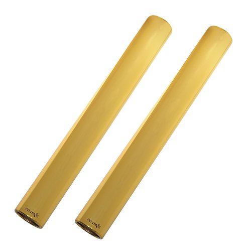 Cosmos ® Pack of 2 Anodized Aluminium Track and Field Relay Batons (Gold) ()