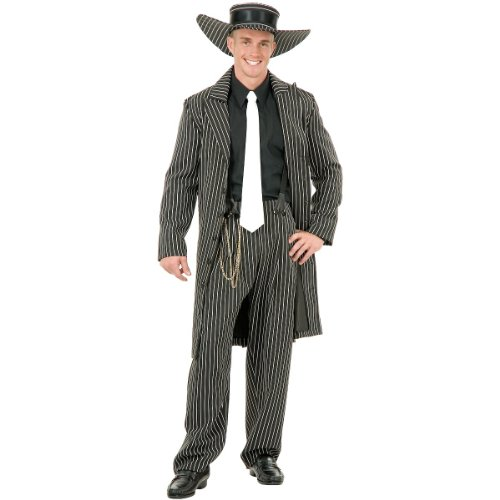 White Zoot Suit Costume (Zoot Suit Adult Costume White -)