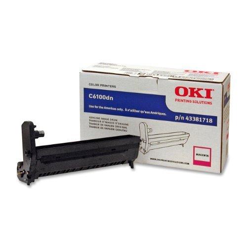 Okidata 43381718 Image Drum Cartridge for 6100 Series, 20000 Page Yield, Magenta by Oki Data (Image Magenta 43381718 Drum)