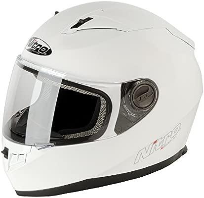 Nitro Casco Moto, Blanco, M