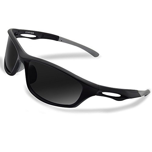 a87afdb2ef2c COSVER Polarized Sports Sunglasses for Men Women Cycling Running Driving Fishing  Golf Baseball Glasses (black gray