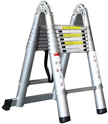 BOC Escalera de escalera Elevación multifunción Escalera de ingeniería doméstica Escalera retráctil de engrosamiento Escalera Escalera doméstica Escalera de ingeniería de aluminio - Capacidad de carg: Amazon.es: Bricolaje y herramientas