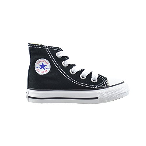 Converse All Star CT Infants Baby Toddlers Canvas Black/White 7j231 (9 M US)